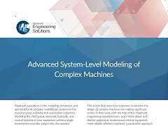 White Paper: Advanced System-Level Modeling of Complex Machines