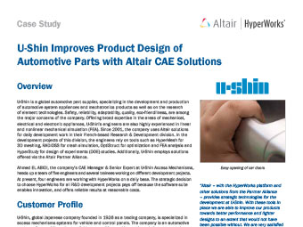 U-Shin Improves Product Design of Automotive Parts with Altair CAE Solutions