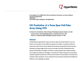 VIV Prediction of a Truss Spar Pull-Tube Array Using CFD