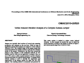 Vortex Induced Vibration Analysis of a Complex Subsea Jumper