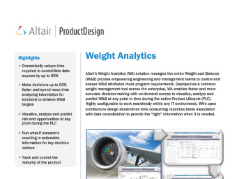 Weight Analytics Datasheet