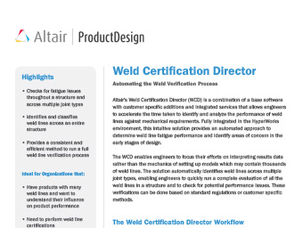 Weld Certification Director Datasheet