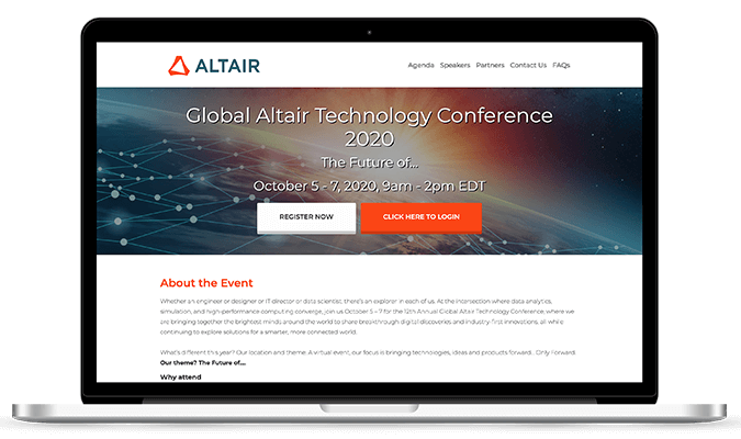 ANNOUNCEMENT Altair Technology Conference
