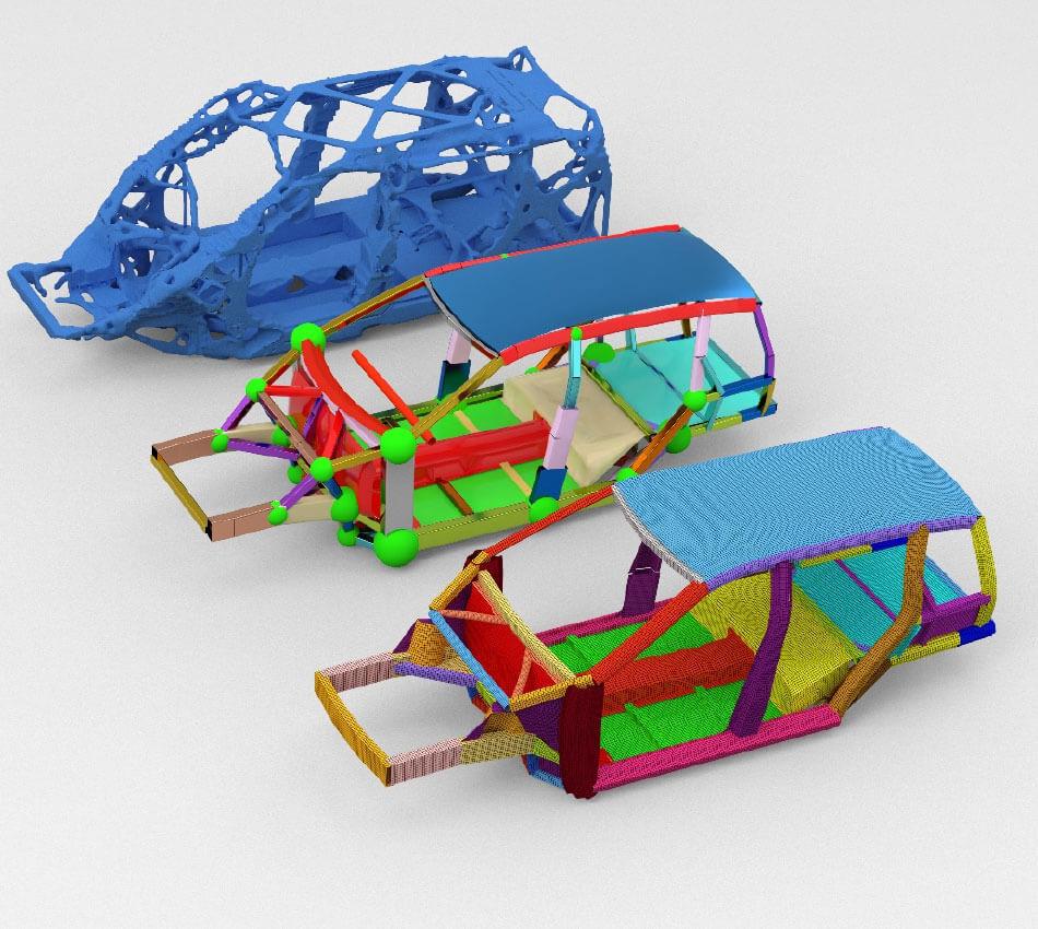 采用优化驱动的牵牛星C123概念开发流程,开发新型电动汽车架构。