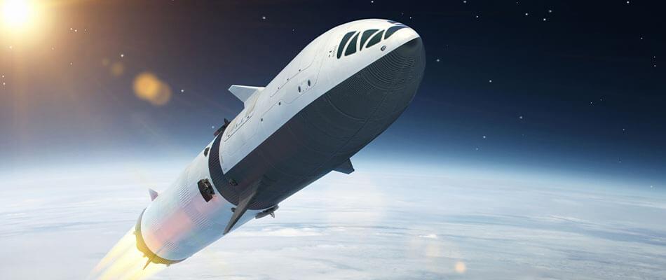 空间火箭概念的数字式渲染发射到地球的大气层
