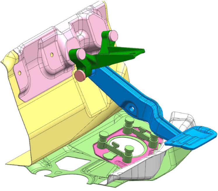 旭化成とマツダの軽量ブレーキペダルブラケット